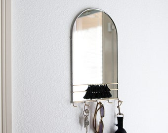Arched Mirror Wall Organizer with Hooks & Tassels