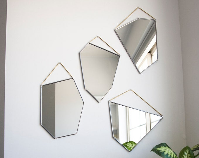 Featured listing image: Geo Rock Shape Mirrors (4 Shapes)