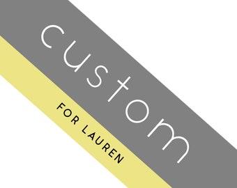 CUSTOM for Lauren - Stained Glass Flower Design