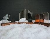 Premium Modern Stained Glass Nativity Set - minimal neutral palette
