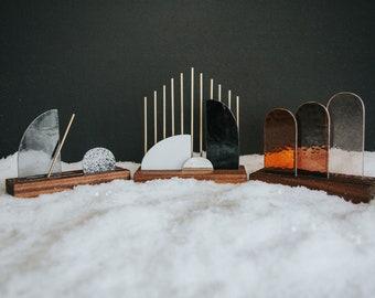 PRE-SALE Premium Modern Stained Glass Nativity Set© - Minimal Neutral Palette