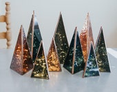 Minimal Prism Color Glass Tree - 3 Different Sizes (includes lights)