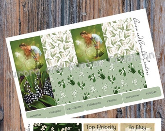 Lily of the Valley Fey.. kit for Erin Condren and Happy Planner