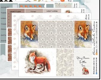 Winter Fox weekly kit for HP, HP Big, EC formats plus diecuts