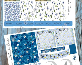 Forget-Me-Not Fey kit for Erin Condren or Happy Planner