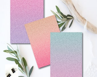 Simply Perfect Glitter Ombre Dashboards ..set of 3