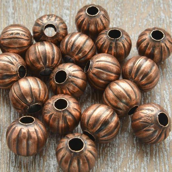 Jewelry Basics Metal Beads 6mm 45//Pkg-Copper Rondelle 3 Pack
