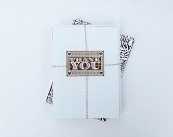 Set of 8 Thank Cards with Envelopes