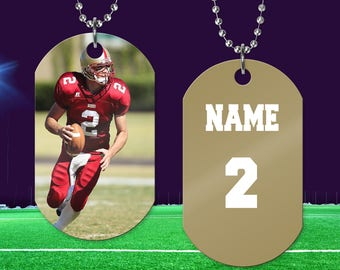 Photo Dog Tag   Photo Necklace   Picture Gift   Photo Jewelry   Mother's Day Gift   Pet Photo Necklace   Sports Photo Dog Tag   Child Photo