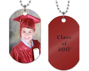 Photo Dog Tag   Graduation Photo Necklace   Picture Gift   Photo Jewelry   Graduation Gift   Class Photo Dog Tag   Photo Jewelry