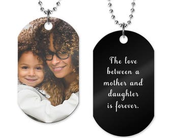 Photo Dog Tag   Photo Necklace   Picture Gift   Photo Jewelry   Pet Photo Necklace   Sports Photo Dog Tag   Fathers Day Gift   Mom Gift