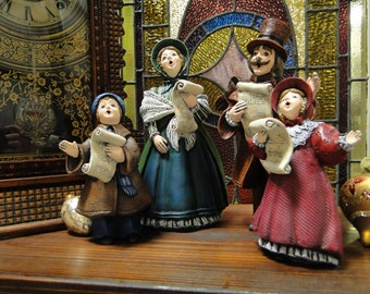 carolers victorian christmas caroler set hand painted ceramic figurines christmas decorations