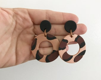 Statement Leopard Mini Hoop Earrings