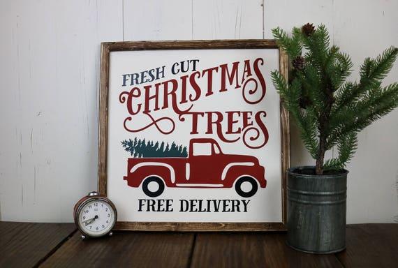 Fresh Cut Christmas Trees Sign.Fresh Cut Christmas Tree Sign Fresh Cut Trees Sign Christmas Decorations Christmas Decor Wood Christmas Sign Farmhouse Christmas Sign