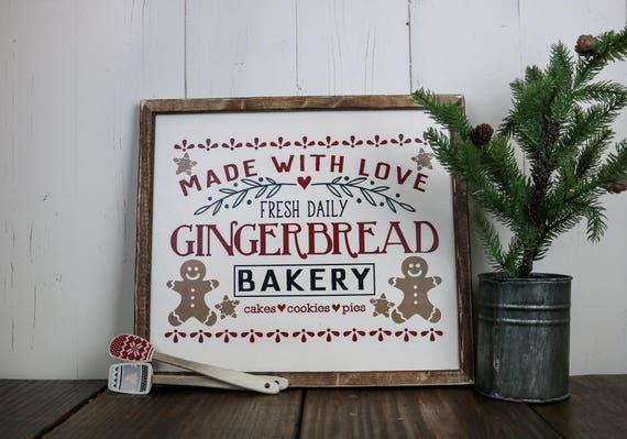 Lebkuchen Dekor Lebkuchen Zeichen Weihnachtsschmuck Etsy
