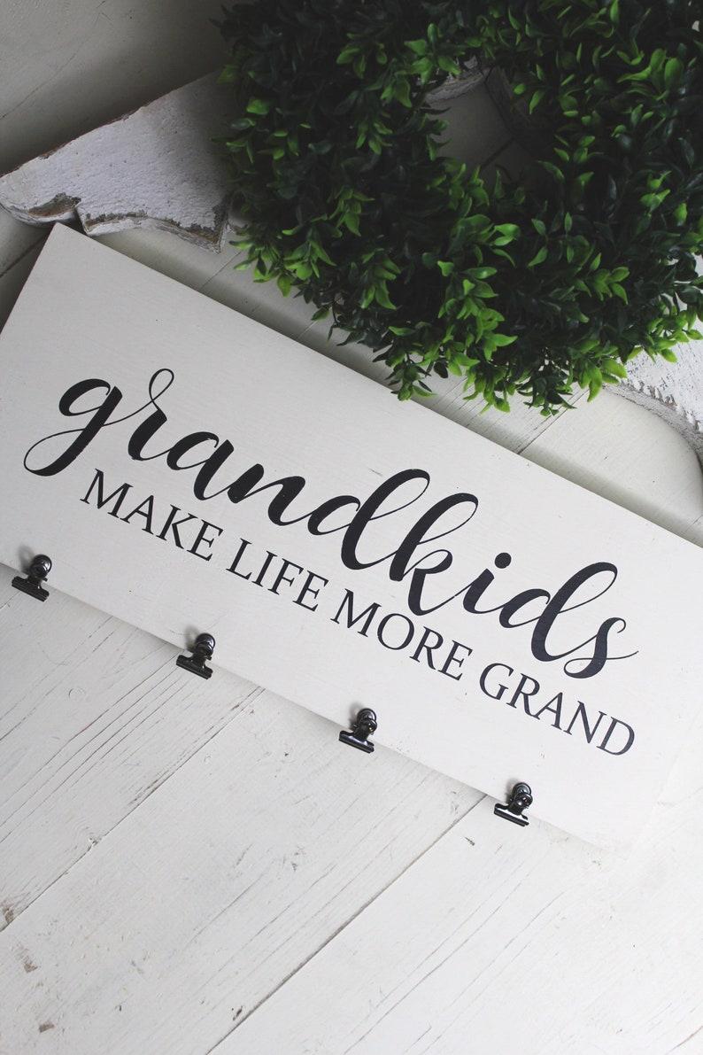 Grandkids Sign Grandchildren Sign Grandparents Sign Grandkids Wood Sign Grandparent Sign Wooden Sign Farmhouse Sign