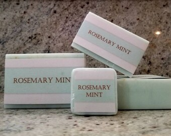ROSEMARY MINT with Oatmeal / Aloe Butter, Mango Butter, Cocoa Butter / Sulfate Free/ Detergent Free /Vegan