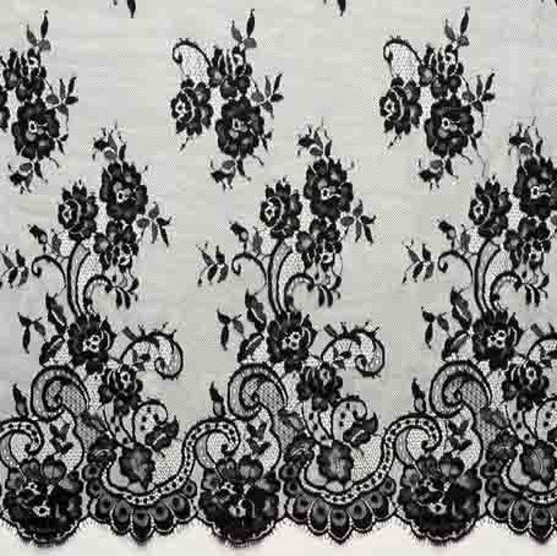3m Width 150cm Eyelash Lace Fabric Embroidery Wedding Dress Sewing Accessories