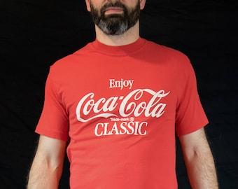 Small/Medium, Vintage, 80s, Coca Cola, Memorabilia, Americana, Tshirt