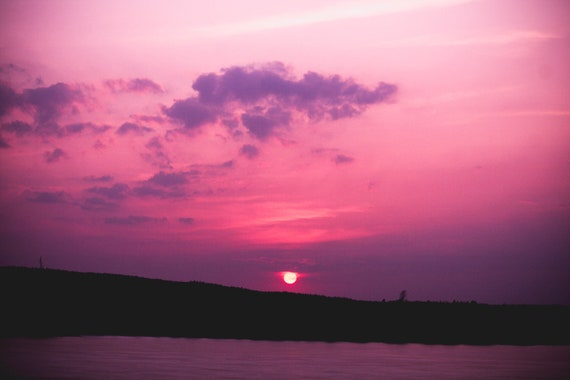 pink sunset lake photograph digital download sky purple clouds etsy pink sunset lake photograph digital download sky purple clouds landscape colorful nature printable photography