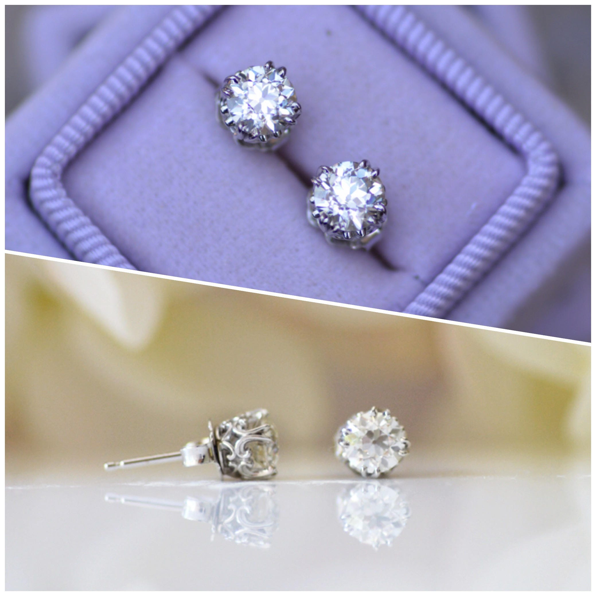 long goldsq starlight silver tenzabelle gold drops stud earrings moissanite e products