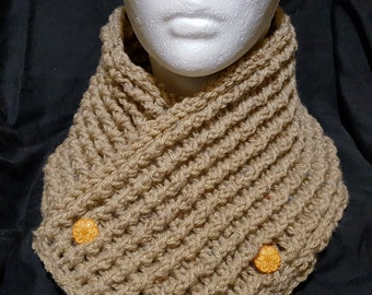 Crochet Rustic Chunky Neck Warmer