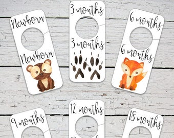 Printable Baby Closet Dividers Camping Nursery Decor Etsy