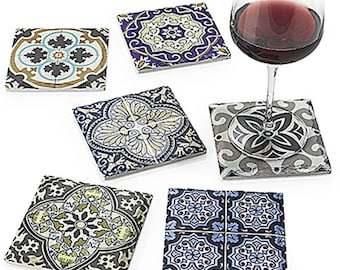 Arasbeque ceramic coasters set of 6 11X11X 0.9 cm
