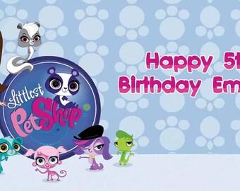 Littlest Pet Shop Birthday Banner