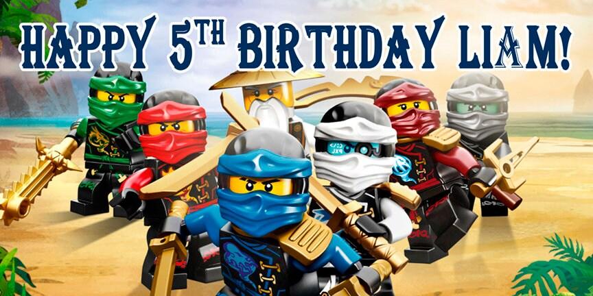 Lego Ninjago Cumpleanos Banner Personalizado Etsy