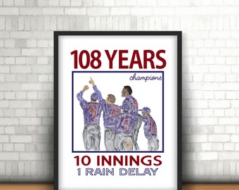 Chicago Cubs World Series Champions Printable Wall Art - Version 2!