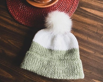 Handmade Knit Double Brim Beanie || 7 Sizes!