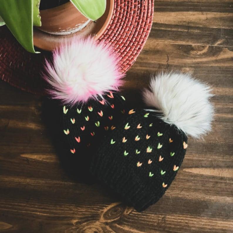 Handmade Sweet as Sherbet Knit Toque  7 sizes image 0