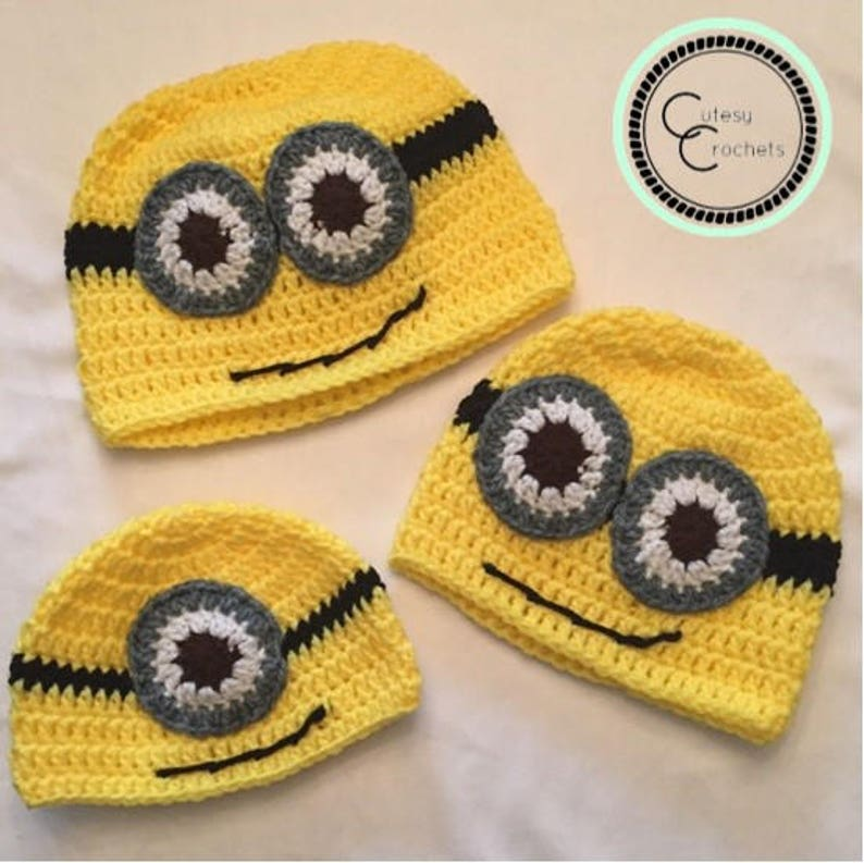 eac7f2ef933d8f Despicable Me Minion Crochet Hat Pattern | Etsy