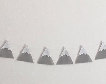 Mountain banner - mountain garland - grey mountain banner - baby room - wholesale mountain banner - wholesale mountain garland