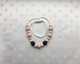 Nursing necklace - teething necklace - chewable necklace- teether - silicone teething  necklace for mom -
