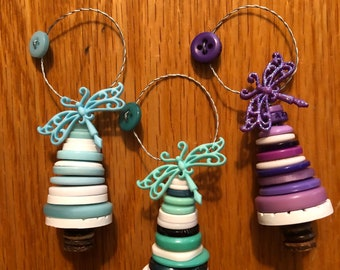 Dragonfly Button ornaments