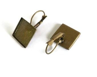 Ergebnisse für Cabochons oder Harz Ohrringe Hebel, Bronze Farbe