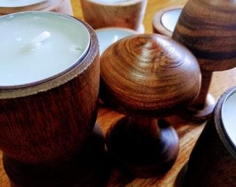 Wooden Tea Light Candle Holders from variety of wood, Acacia wood, Eucalyptus wood, Tealight, Mushrooms