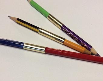 Double Gripper - dual pencil extender, dual pencil holder, pencil lengthener