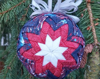 Americana Ornament-Quilted Look - Sale