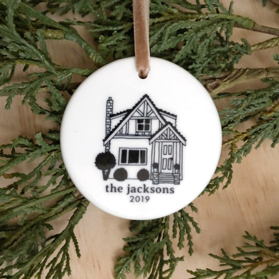 New Home Ornament 2020.January Delivery House Ornament First Home Ornament Christmas Decorations Holiday Decor Christmas Ornaments Personalized Ornament