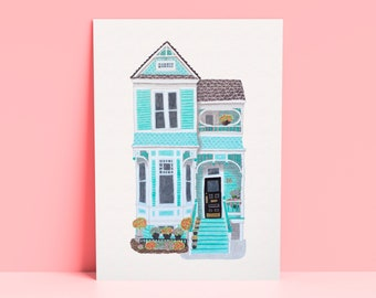 Custom Home Portrait, House Drawing, Custom Drawing of Your Home, House Illustration, House Portrait, Closing Gift, Watercolor House