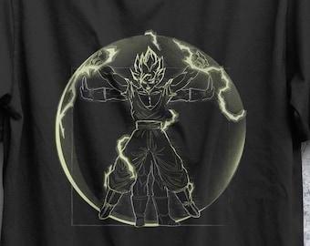 Vitruvian Anime Warrior T-Shirt  /  Choose your favourite warrior  / Leonardo Da Vinci / Anime T-shirt