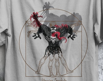 Vitruvian Symbiote T-shirt / Spider-Man Tee  / Venom / Carnage /  Leonardo da Vinci