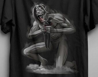 Eren Devouring His Father T-shirt / Eren Jaeger  / Anime tee  /  Goya / Classic painting
