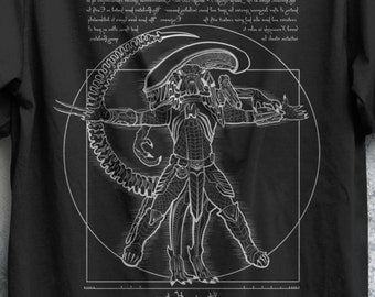 Xenomorph Evolution T-shirt / Science Fiction Tee / Sci-fi / | Etsy