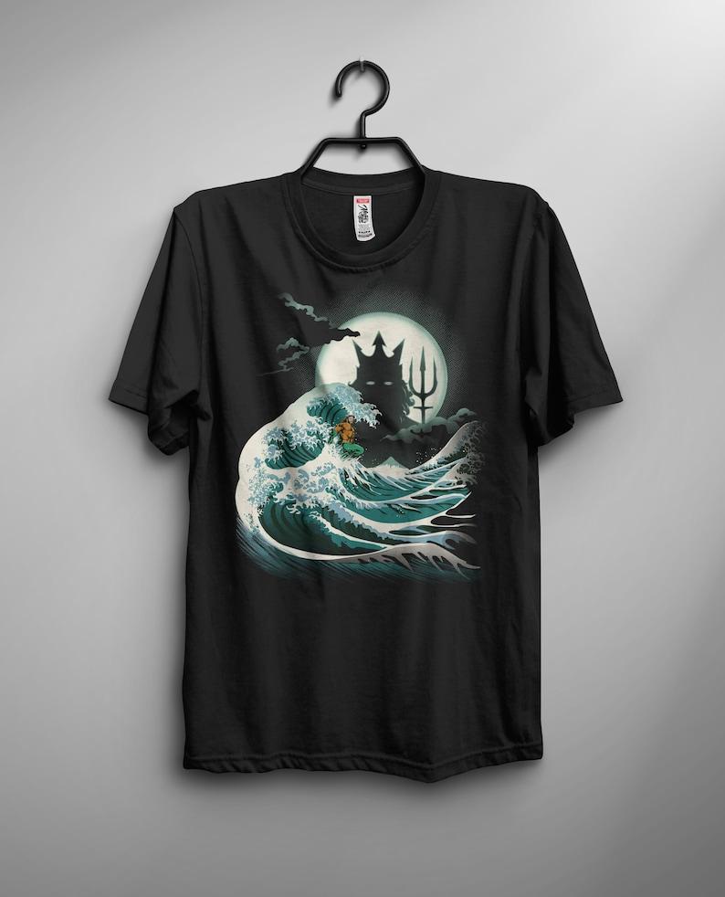 The Wave of Atlantis T-shirt / Aquaman Tee /  The Great Wave image 0