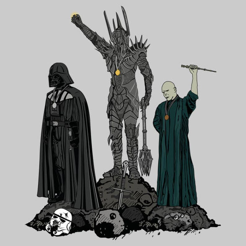 Dark Power T-shirt /  Olympic Podium with Sauron   Darth image 0
