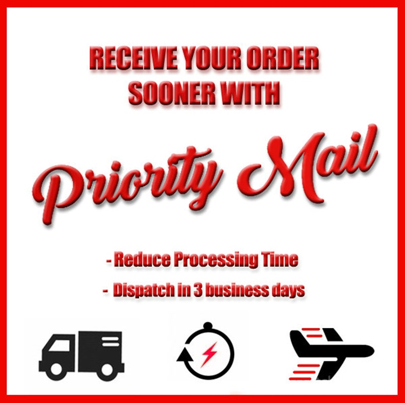 Priority Mail / Receive your Order Sooner/  Ask for prices image 0